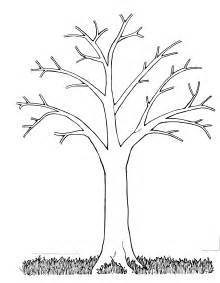 tree to color bare tree coloring page coloring home
