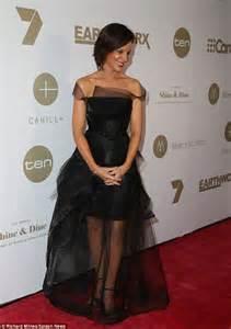 Natarsha Belling exudes elegance in sheer black number at Doltone House in Sydney   Daily Mail