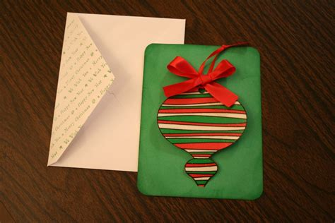 handmade christmas cards with a removable ornament chica