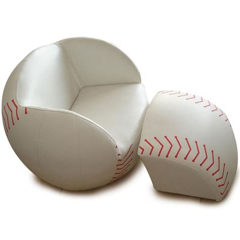 Baseball Upholstered Chair With Ottoman Stargate Cinema