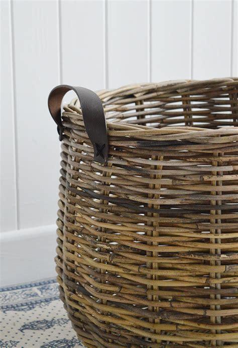 casco bay grey basketware willow shopping basket