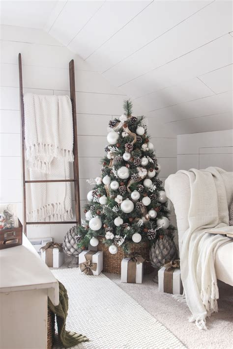 big christmas tree in small room simple farmhouse bedroom grows