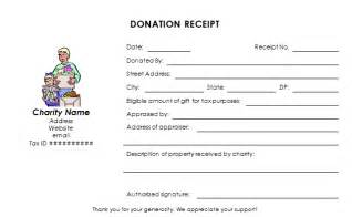 donation receipt templates charitable donation receipt template