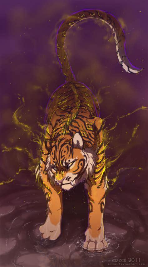fire tiger  azzai  deviantart