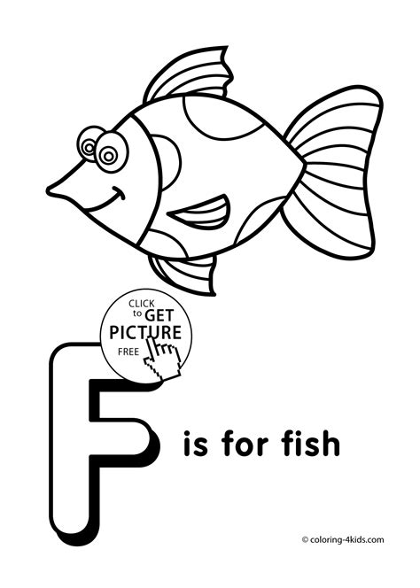 F Fish Coloring Page by Letter F Coloring Pages Of Alphabet F Letter Words For