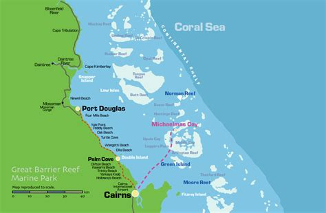 great barrier reef map where is michaelmas cay on the great barrier reef michaelmas cay das great barrier reef