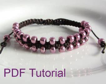 pdf tutorial alternating square knot macrame bracelet pdf tutorial square knot macrame bracelet pattern instant