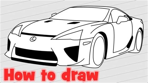 lexus lfa drawing how to draw a car lexus lfa 2017