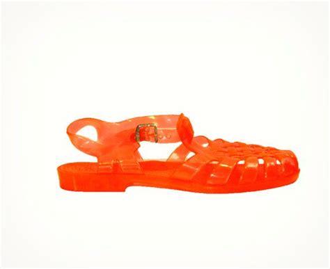 jelly sandals 90s 90s jelly sandals neon translucent orange 1990s jellies