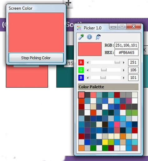 use these free tools for saving quilt colors the color picker grabs the color and gives you a
