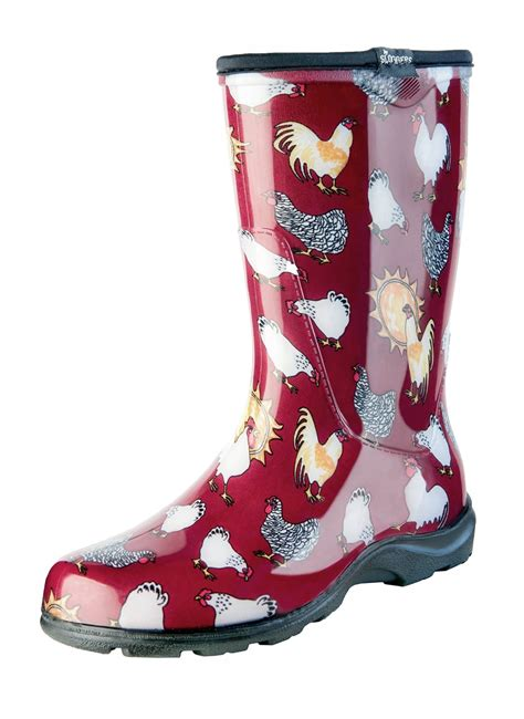 Rains Boot Animal s garden boot barn chicken print