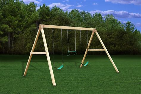 3 swing set settler a frame swing beam kit easy diy build 3d plans