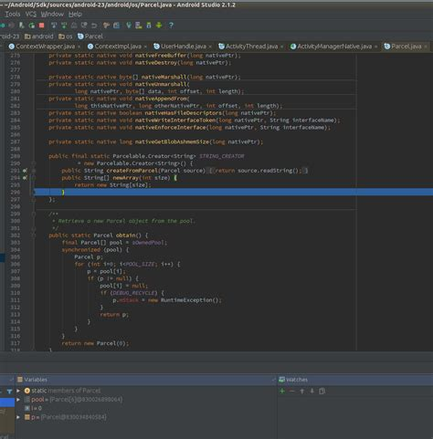 java why does android studio always show actionbar in debugging my android studio debugger is off by a couple