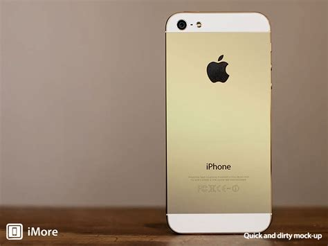 iphone 5s gold apple s gold iphone 5s revealed in high quality leaked images mactrast
