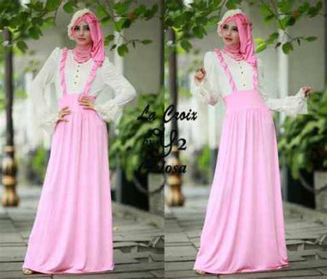 Gamis Abaya Maxi Syar I Syakila No Pashmina gamis pesta variasi brokat celosa p19 model busana muslimah remaja terbaru