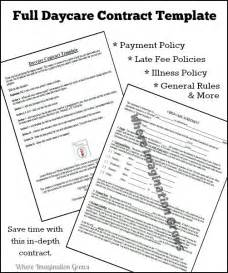 Sles Of Daycare Contracts by Complete Daycare Contract Where Imagination Grows
