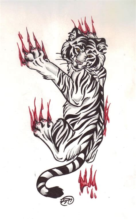 tiger thigh tattoo designs cool and tiger designs