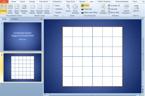 design grid powerpoint create a 2d coordinate system in powerpoint using shapes