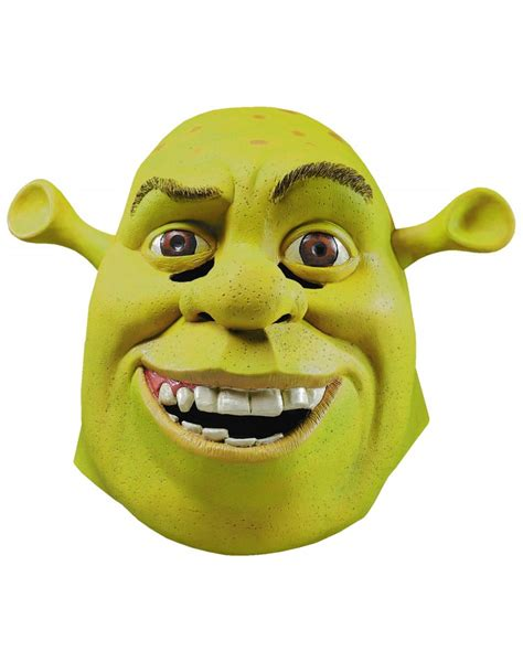 Costumes Mask Ogre Papercraft deluxe shrek mask green ogre costume accessory