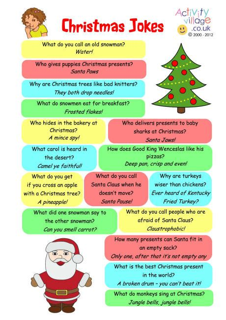printable corny jokes 25 funny and cute christmas jokes inspire leads