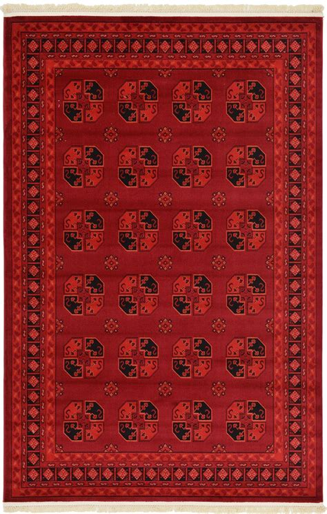 Traditional Red Rug New Area Rug Oriental Persian Classic Bokhara Rug
