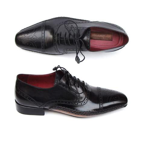 paul parkman shoes paul parkman cap toe side stitch brogues black