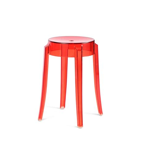 Tabouret Kartell by Tabouret Charles Ghost Kartell Philippe Starck Reproduction