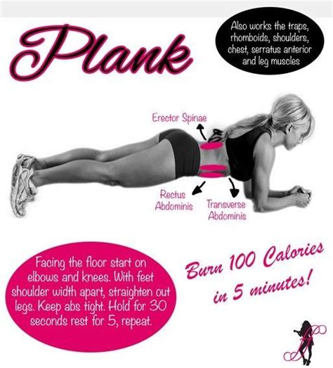 100 floor challenge workout plank exercise hold for 30 seconds rest for 5 repeat