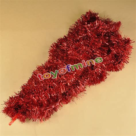 2m christmas xmas tree hanging decoration tinsel garland