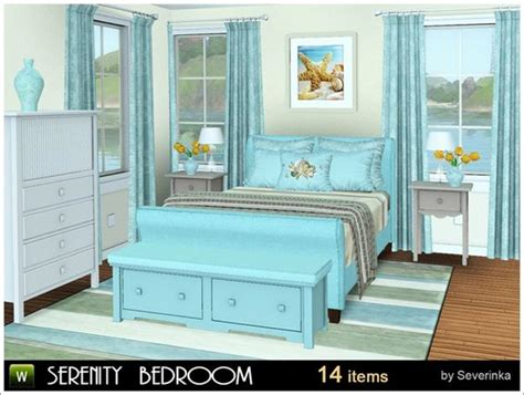 furniture by simcredible custom content serenity bedroom by severinka free sims 3 furniture