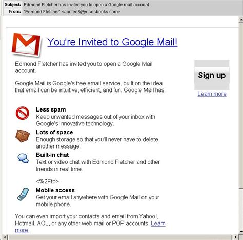malware pushers abuse gmail invitation template