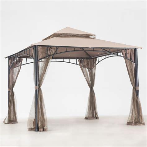 gazebo 10 x 10 sunjoy marla 10 ft x 10 ft gazebo with vented canopy