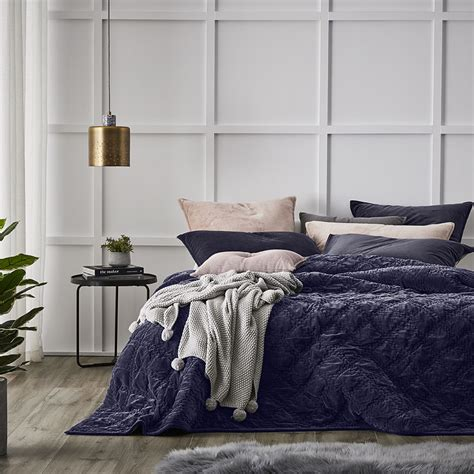 coverlets online australia home republic cotton velvet quilt cover navy bedroom