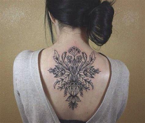 tattoo back and neck floral back neck tattoos ink metal pinterest