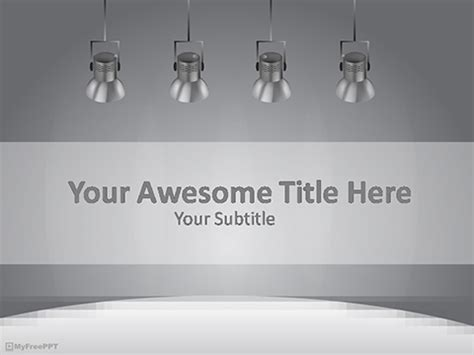Free Spotlights Powerpoint Template Download Free Powerpoint Ppt Spotlight Powerpoint Template