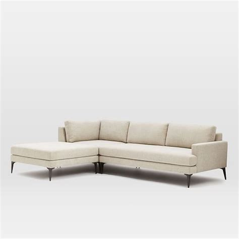 3 Sectional With Chaise Andes 3 Chaise Sectional West Elm