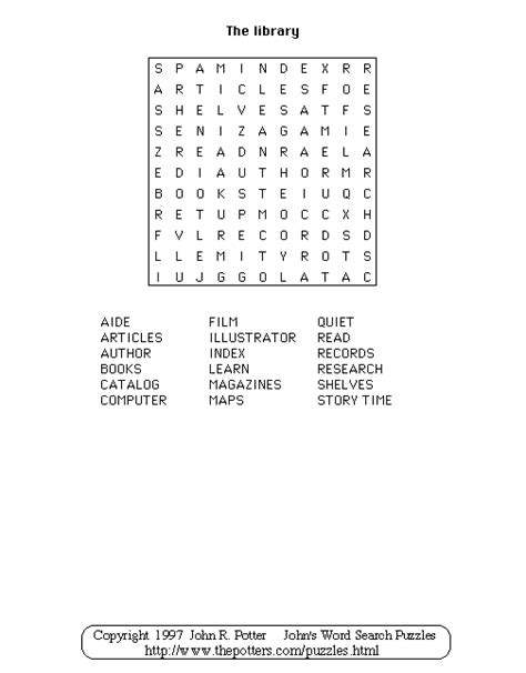 s word search puzzles library