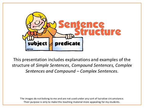 pattern simple sentence sentence structure