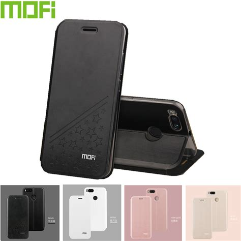 Xiaomi Mi A1 Mia1 Smart Leather Flip View Cover Casing Autolock mofi for xiaomi mia1 5 5 inch cover flip pu leather stand for global version xiaomi