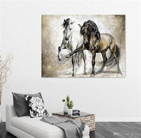horse design home decor 2018 two horse design retro brown horse dance original