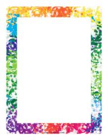 Colorful border page border
