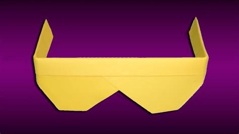 Origami Sunglasses - paper sunglasses how to make origami sunglasses
