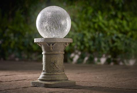 crackled glass solar gazing ball  sharper image
