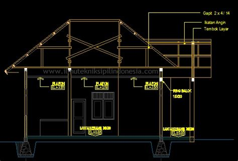 cara membuat gambar 3d di jalan cara membuat potongan gambar rumah di autocad ilmu