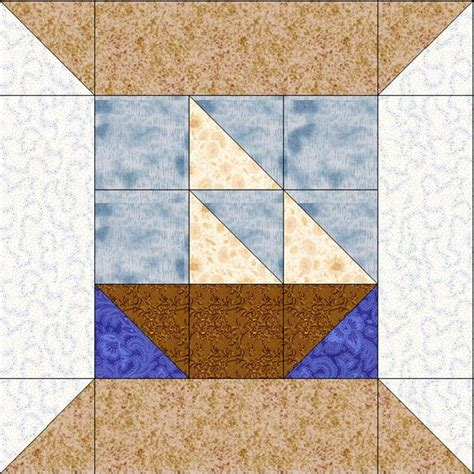 Boat Quilt Block Pattern by Sailboat Quilt Block Quilt Blocks