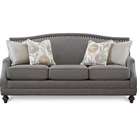 Wonderful Affordable Tufted Sofa #7: Art-van-pewter-ii-grey-nailhead-sofa.jpeg