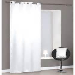achat rideau occultant blanc pas cher 224 oeillets 140x260