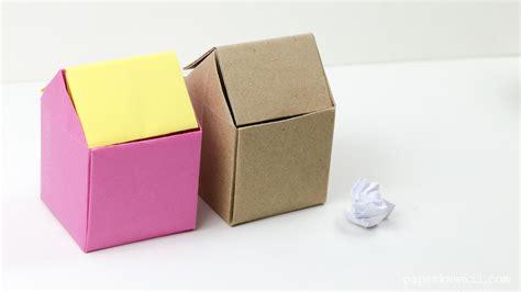 Origami Garbage Bin - origami rubbish bin paper kawaii