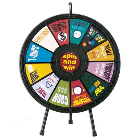 Tradeshow 12 Slot Prize Wheel Positive Promotions 12 Slot Prize Wheel Template
