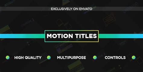 20 Unique Motion Titles Titles After Effects Templates F5 Design Com Motion Title Templates
